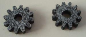 Laserschneiden von technischen Filz-Bauteilen