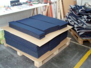 Laserschneiden von Magnet-Teppich