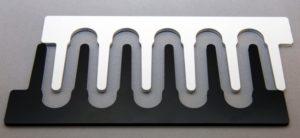 Laserschneiden von Trenneinsätzen aus ABS
