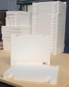 Laserschneiden von Polystyrolschaumstoff-Bauteilen