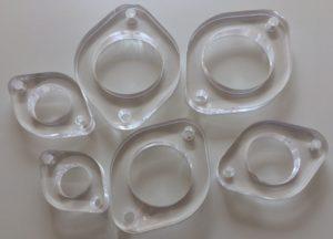 Laserschneiden von Flansch aus Acrylglas
