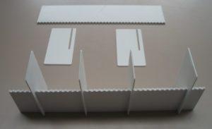 Laserschneiden von Lagertrenner aus Polystyrol PS