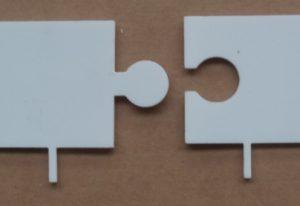Laserschneiden von Positionierhilfe aus Teflon/PTFE