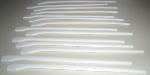 Laserschneiden von Bauteilschutz mit Schrägen aus Teflon