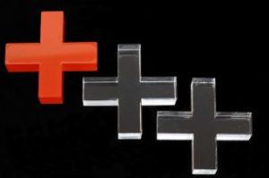 Laserschneiden von Werbeartikel aus Plexiglas Acrylglas PMMA