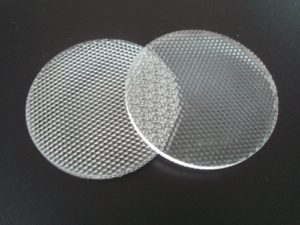 Laserschneiden von strukturiertem Plexiglas Acrylglas PMMA