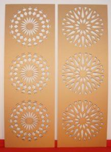Laserschneiden von Sichtschutz, Verkleidungen aus Holzwerkstoffen