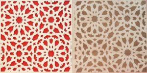 Laserschneiden und lasergravieren von Muster auf Holz
