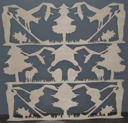 Laserschneiden von Barverkleidung aus Sperrholz