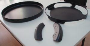 Laserschneiden von Schutzteile für Räder aus vorgeformtem ABS