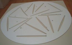 Laserschneiden von technischen Polystyrol-Schablonen