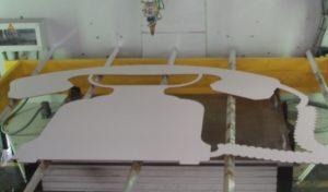 Laserschneiden von grossen Formen aus MDF