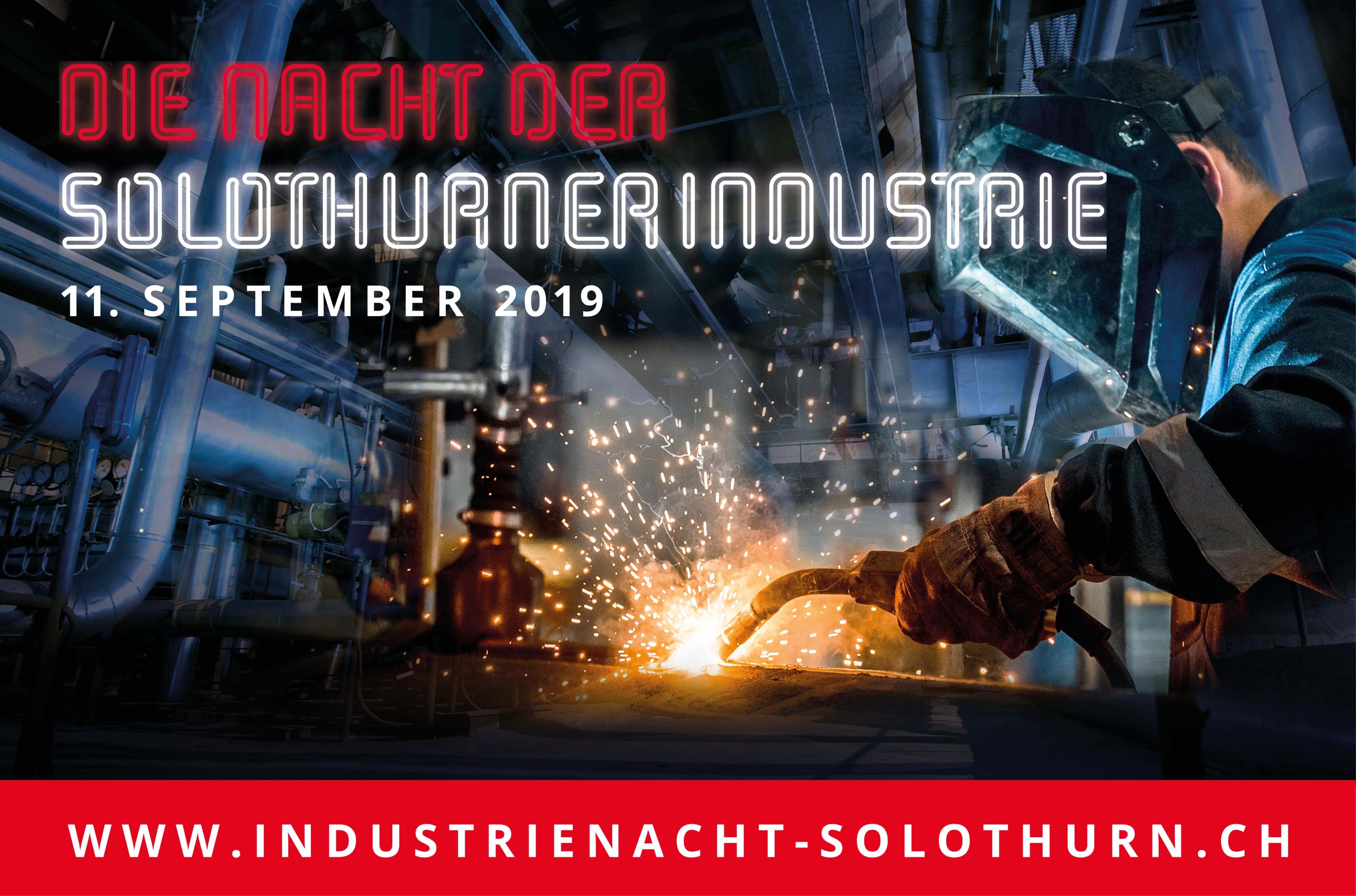 Nacht der Solothurner Industrie am Mittwoch, 11. September. Tour 3 ab Olten mit ZB-Laser AG Schönenwerd